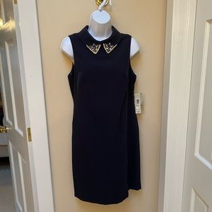 Eliza J shift dress with jeweled collar NWT size 8